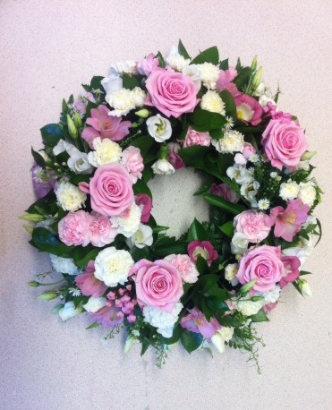 Pastel Pink And White Wreath