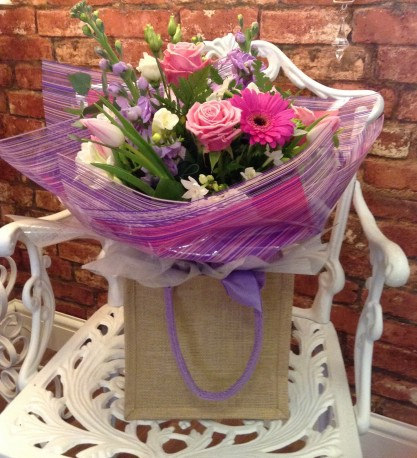 Spring Hand Tied In Pinks