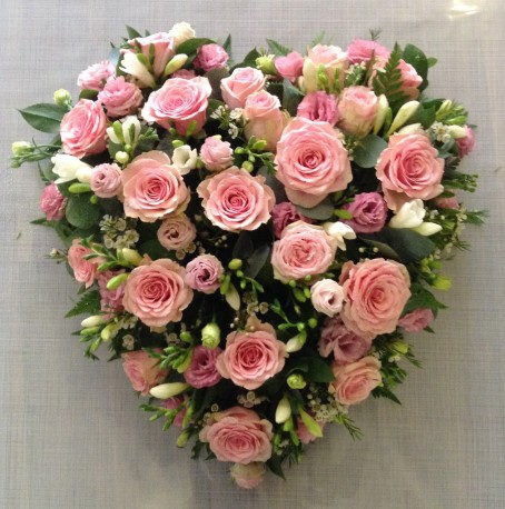 Rose and Freesia Heart