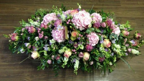 Summer Country Garden Casket Spray