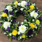 Summer Purple and White Wreath