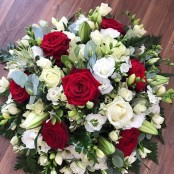 Red Rose, Lily and Freesia Posy