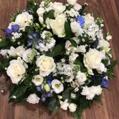 White and Blue Posy
