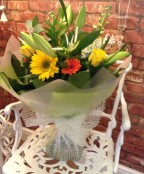 Summer Yellow, Orange and White Hand Tied