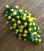 Yellow Rose Casket Spray