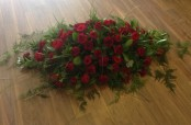 Red Rose and Carnation Casket Spray