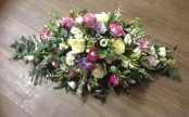 Country Garden Casket Spray