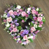 Lilac and Pink Open Heart